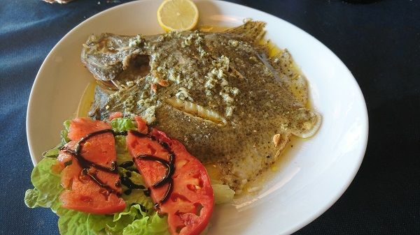 Baked turbot with lemon