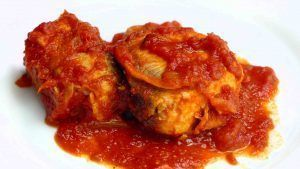 Bonito with tomato. It´s a very easy recipe, similar as your grandmother made it.