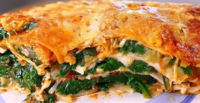 Vegetable lasagna. It is a different idea to make this delicious pasta recipe. It is very easy to make it at your home and it is ideal for vegetarians.